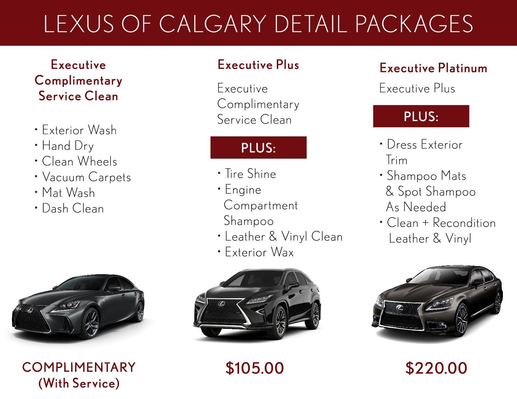 Detail Packages lexuscalgary