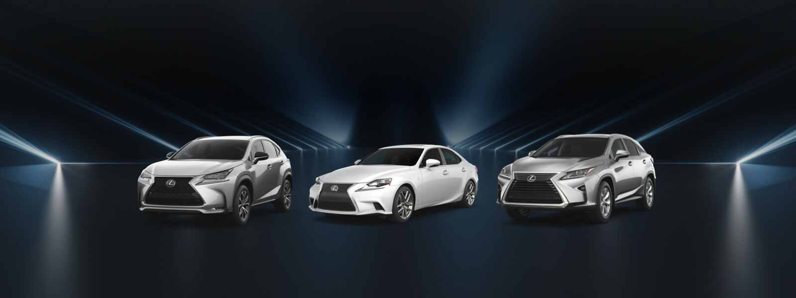 Lineup of Lexus Certified Pre-Owned Alberta