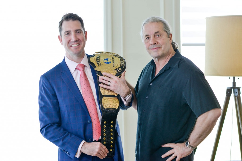 Alyc Keith Next to Bret Hart at Lexus Calgary Dealership