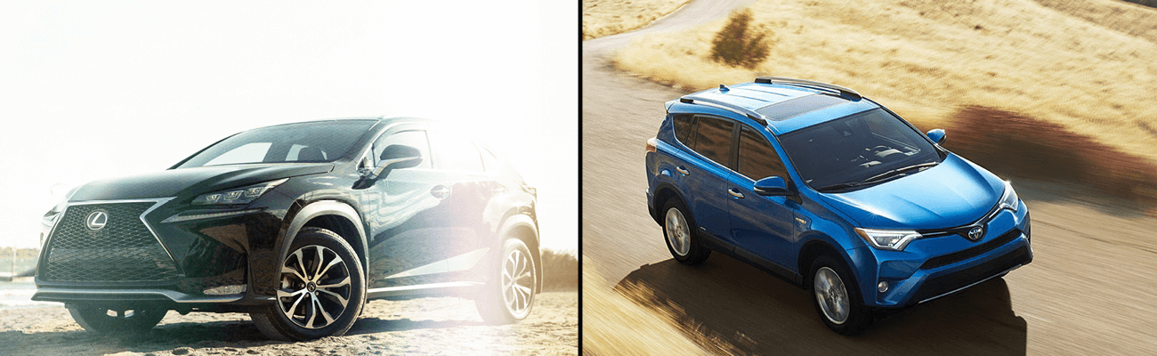 The Lexus NX v. the Toyota RAV4